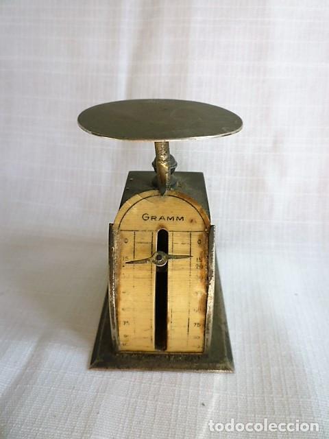 Antigüedades: MUY ANTIGUO PESO DE CARTERO DE ACERO REGULABLE, GRADUADO DE 0 A 100 GR.- GRAMM. CIRCA 1930 - Foto 3 - 153692518