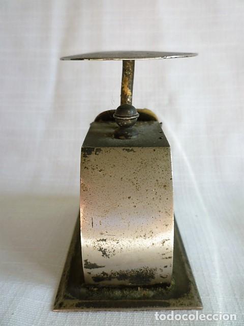 Antigüedades: MUY ANTIGUO PESO DE CARTERO DE ACERO REGULABLE, GRADUADO DE 0 A 100 GR.- GRAMM. CIRCA 1930 - Foto 5 - 153692518