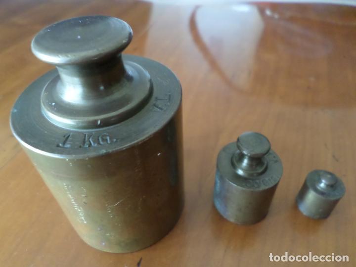 PESAS DE BRONCE (Antigüedades - Técnicas - Medidas de Peso Antiguas - Otras)