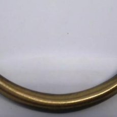 Antigüedades: ASA GRANDE BRONCE Y CUERO MEDIDAS 12,5 CM. Lote 210460348