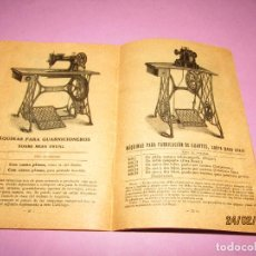 Antigüedades: CATÁLOGO DE LAS MÁQUINAS DE COSER SINGER PARA FAMILIAS Y TODA CLASE DE INDUSTRIAS DEL AÑO 1921. Lote 153878790