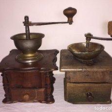 Antigüedades: 2 MOLINO MOLINILLO DE CAFE CENTENARIOS FIRMA WL LEHNARTZ Y ELEGIBLE.. Lote 153951078