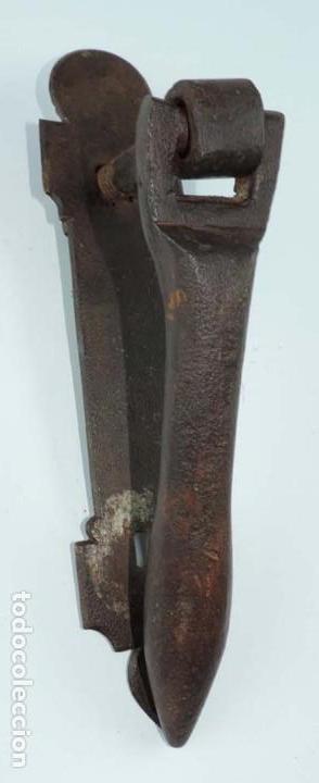 Antigüedades: ALDABA O LLAMADOR DE HIERRO FORJADO, ESPAÑA SIGLO XVIII, MIDE 21,5 CMS. DE LONGITUD, VER TODAS LAS F - Foto 3 - 154106894