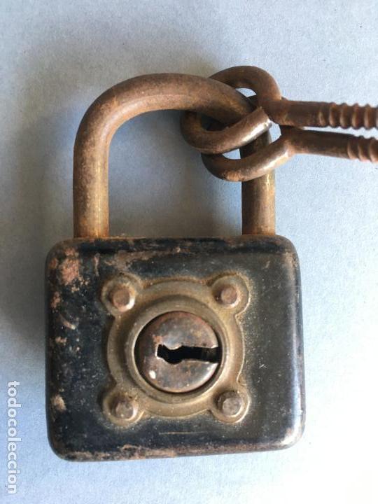 ANTIGUO CANDADO METÁLICO (Antigüedades - Técnicas - Cerrajería y Forja - Candados Antiguos)