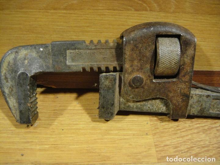 Antigüedades: llave grifa del 12 - marca marpe - Foto 3 - 154182314