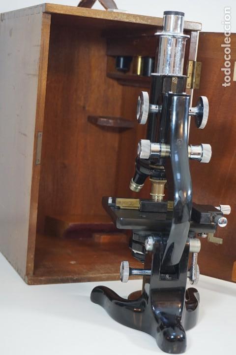 ANTIGUO MICROSCOPIO INGLÉS 'WATSON & SONS' C.1930 (Antigüedades - Técnicas - Instrumentos Ópticos - Microscopios Antiguos)