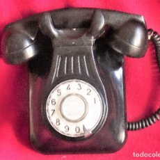 Teléfonos: ANTIGUO TELEFONO DE TELEFONICA BAQUELITA NEGRO. Lote 148745482