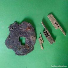 Antigüedades: CONJUNTO DE PESTILLOS O TIRADORES Y OJO DE CERRADURA , EPOCA ROMANA. Lote 154497830