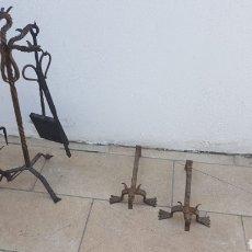 Antigüedades: JUEGO UTENSILIOS FUEGO A TIERRA DRAGONES. Lote 154522166