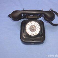 Teléfonos: * ANTIGUO TELEFONO DE SOBREMESA DE METAL EN NEGRO, AÑOS 40, ORIGINAL. ZX. Lote 154560630