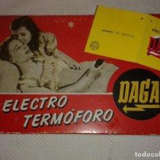 Antiquités: ELECTRO TERMOFORO DAGA, MANTA ELÉCTRICA. PARA CORRIENTE 110-120 V.. Lote 154561894