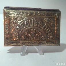 Antigüedades: CARNET DE BAILE. RECUERDO. PLATA. FINALES DEL S.XIX. 9'2X6CM. Lote 154624610