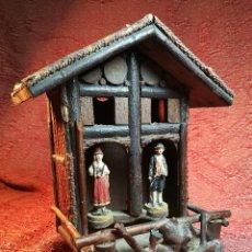Antigüedades: WEATHER HOUSE BAROMETER-PRIMITIVO BAROMETRO ALEMAN SIGLO XIX- SELVA NEGRA -ORIGINAL. Lote 154770490