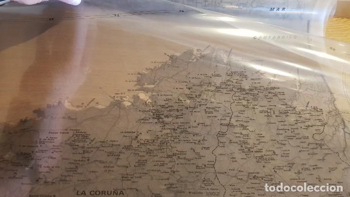 Antigüedades: GALICIA !! JUEGO DE FOTOLITOS O PLANCHAS DE IMPRENTA PARA EL MAPA DE GALICIA EN 5 PARTES / LEER. - Foto 8 - 154775482