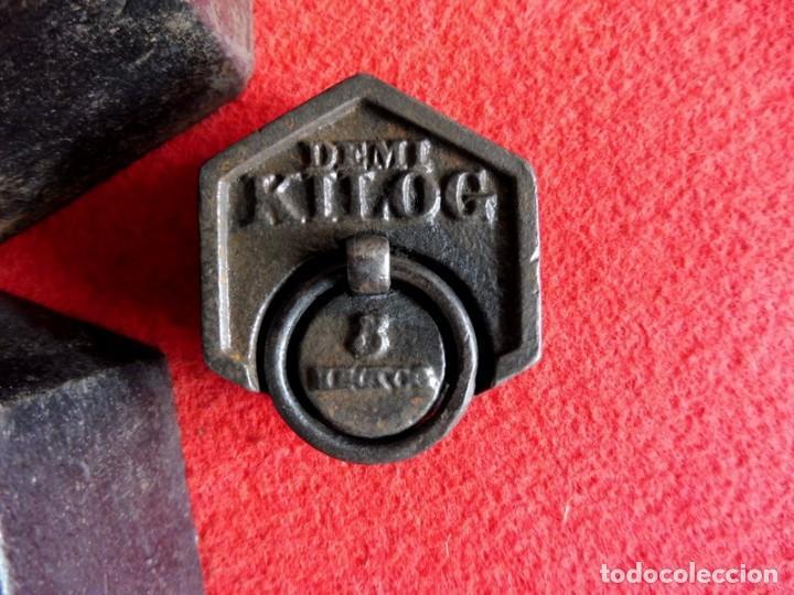 Antigüedades: JUEGO DE 7 PESAS EXAGONALES - Foto 6 - 154841734