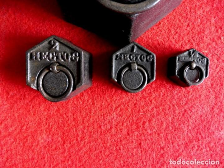 Antigüedades: JUEGO DE 7 PESAS EXAGONALES - Foto 7 - 154841734