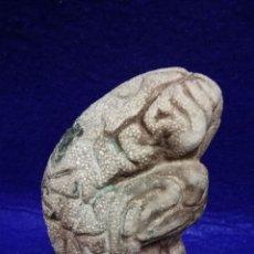 Antigüedades: CEREBRO ESTUDIO ANATOMÍA ANTIGUA MAQUETA PASTA DIDÁCTICA CURIOSIDADES CIENCIA. Lote 154870557