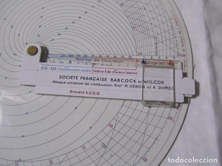 Antigüedades: Ábaco Universal de Combustión Societé Française Babcok et Wilcox Graphoplex - Foto 5 - 155015138