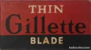 Envoltorio de cuchilla de afeitar antigua Gillette