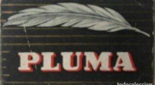 Cuchilla de afeitar antigua Pluma