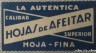 Cuchilla de afeitar antigua La autentica