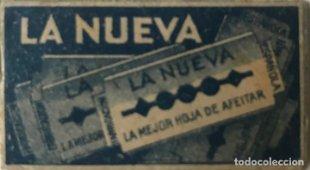 Cuchilla de afeitar antigua La Nueva