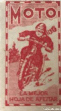 Envoltorio de cuchilla de afeitar antigua Moto