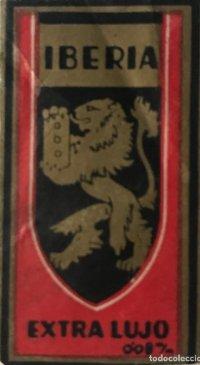 Envoltorio de cuchilla de afeitar antigua Iberia. Extra lujo