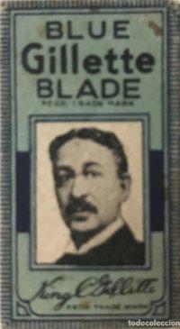 Envoltorio de cuchilla de afeitar antigua Blue Gillette Blade