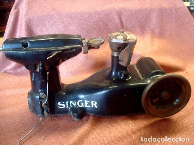 MAQUINA INDUSTRIAL ANTIGUA DE COSER PIELES, MARCA SINGER (Antigüedades - Técnicas - Máquinas de Coser Antiguas - Singer)
