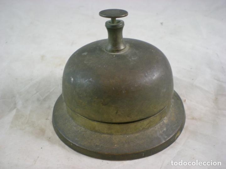 TIMBRE DE HOTEL - BRONCE (Antigüedades - Técnicas - Cerrajería y Forja - Llamadores Antiguos)