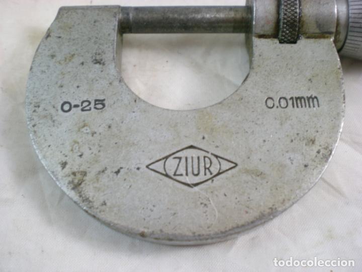 Antigüedades: Micrometro ZIUR - Lote x2 - 0-25 y 25-50 - Calibre Exterior - Foto 2 - 155154794
