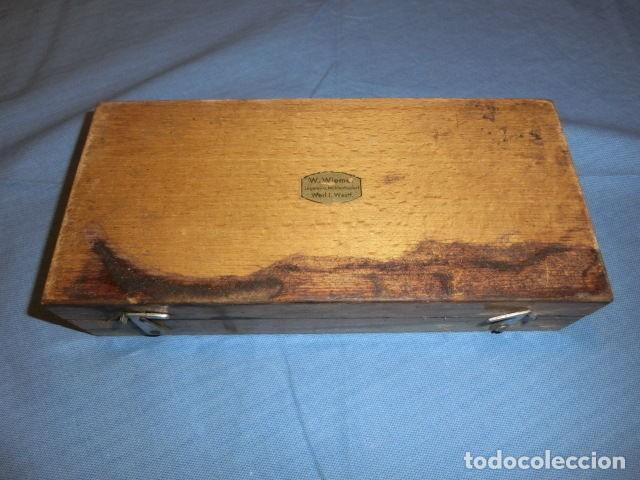 Antigüedades: Nº23 ANTIGUA CAJA CON 8 PESAS EN BRONCE 100% ORIGINAL - Foto 6 - 155214170