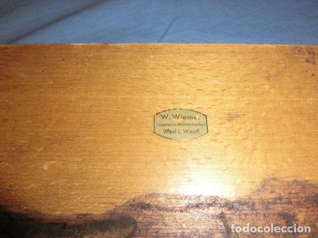 Antigüedades: Nº23 ANTIGUA CAJA CON 8 PESAS EN BRONCE 100% ORIGINAL - Foto 7 - 155214170