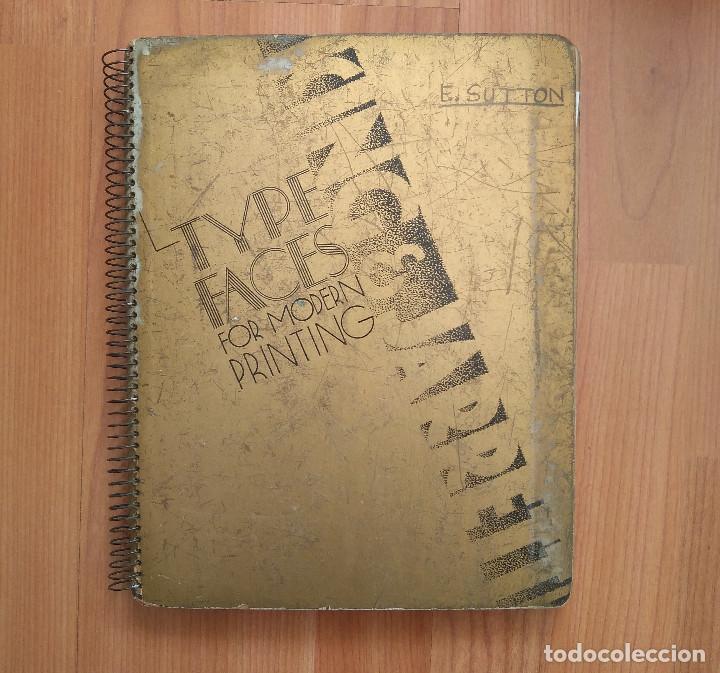 ESPECIMEN / CATALOGO TIPOS IMPRENTA & ORNAMENTS KING & JARRET UK (PRINTED TYPES SPECIMEM BOOK) (Antigüedades - Técnicas - Herramientas Profesionales - Imprenta)