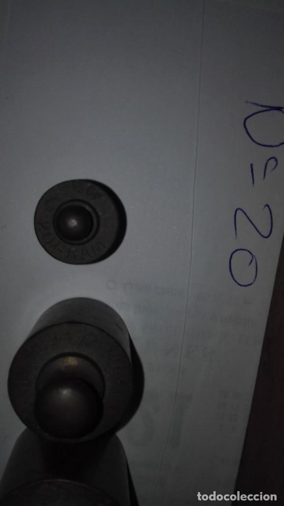 Antigüedades: Nº20 ANTIGUA CAJA CON 5 PESAS EN BRONCE 100% ORIGINAL - Foto 6 - 155242462