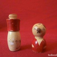 Antigüedades: GUARDA AGUJAS FORMA DE HOMBRE.. Lote 155242782
