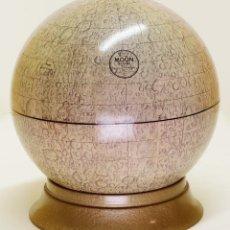Antigüedades: 1969C - GLOBO LUNAR DE LA ÉPOCA DE LA CARRERA ESPACIAL - CRAM DE 25CM. SOPORTE ORIGINAL. Lote 89723664