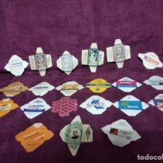 Antigüedades: PEQUEÑA COLECCIÓN DE 21 ETIQUETAS O FUNDAS DE HOJAS DE AFEITAR ANTIGUAS O VINTAGE, VARIAS MARCAS. Lote 155281678