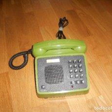 Teléfonos: ANTIGUO TELEFONO DE TELEFONICA MOD. AMPER AÑOS 80 CON MANOS LIBRES Y COLOR VERDE. Lote 155357134