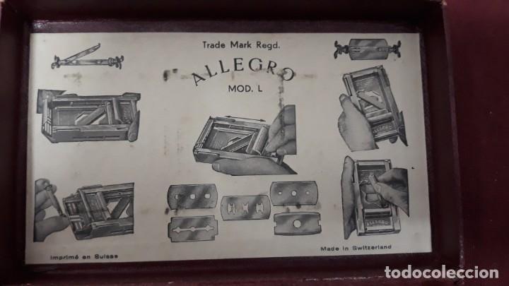 Antigüedades: ALLEGRO...MAQUINA AFILAR HOJAS AFEITAR... - Foto 11 - 155375750