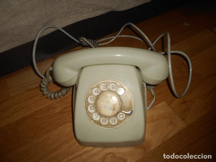 TELÉFONO MODELO HERALDO AÑOS 60 COLOR GRIS (Antigüedades - Técnicas - Teléfonos Antiguos)