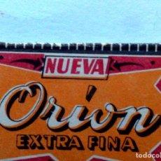 Antigüedades: HOJA DE AFEITAR ANTIGUA,ORION EXTRA FINA,CON TEXTO ¡¡NUEVA!! EN ANVERSO. Lote 155444666