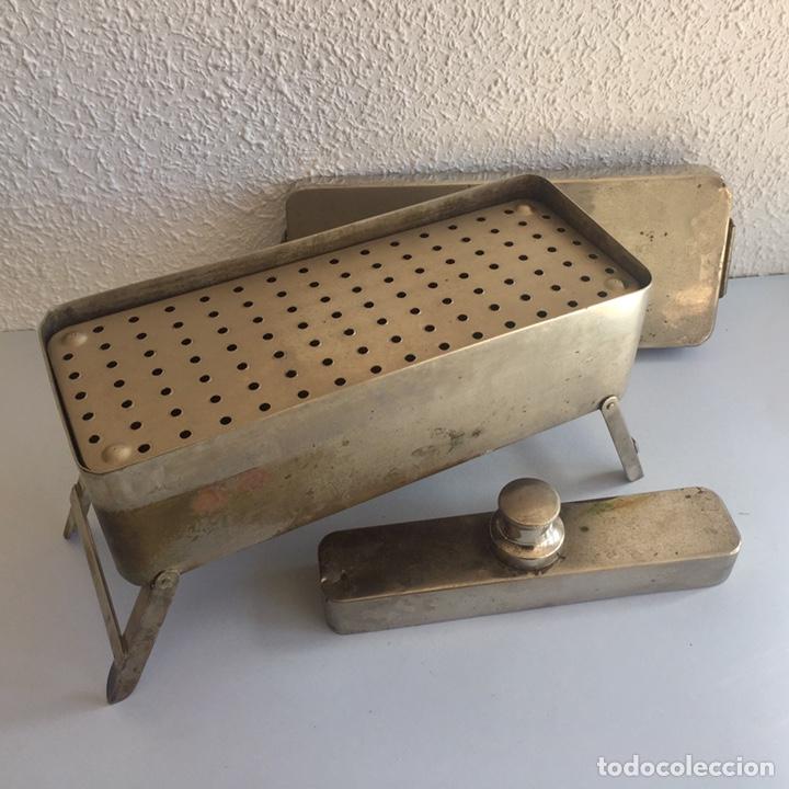 Antigüedades: Antiguo esterilizador para instrumental médico quirúrgico - Foto 2 - 155453092