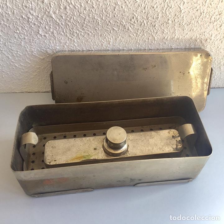 Antigüedades: Antiguo esterilizador para instrumental médico quirúrgico - Foto 4 - 155453092