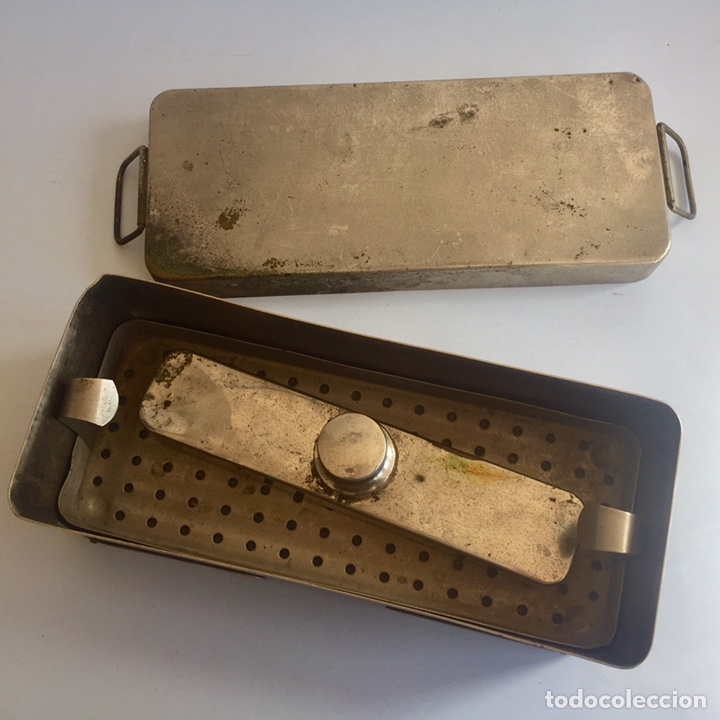 Antigüedades: Antiguo esterilizador para instrumental médico quirúrgico - Foto 5 - 155453092