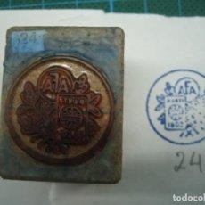 Antigüedades: IMPRENTA GRABADO EMBLEMA DE CARRERA. REF EMBLEMA 24. Lote 155502386
