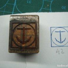 Antigüedades: IMPRENTA GRABADO EMBLEMA DE CARRERA. REF EMBLEMA 42. Lote 155503858