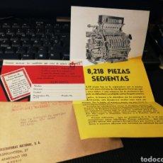 Antigüedades: PUBLICIDAD DE CAJAS REGISTRADORAS NATIONAL.. Lote 155505121