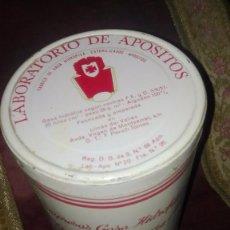 Antigüedades: LATA DE GASAS ANTIGUA .PERICH TOMAS. Lote 155669178